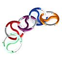 Eight Diagrams-Shaped Aluminu Carabiner (Random Color)