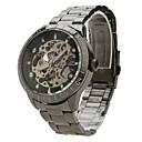 Herren-Legierung analoge mechanische Armbanduhr 9383 (schwarz)