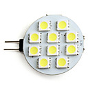 G4 2W 10x5050SMD 80LM 5500K naturel wit licht LED-spotlamp (12V)