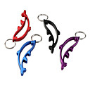 Dolphin Design Bottle Opener Keychain (Random Color)