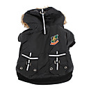 Dog Hoodies - XS / S / M / L / XL - Winter - Black - Waterproof - Cotton