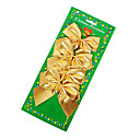 Christmas Ornaments Golden Textile Bowknot(4PCS)