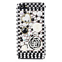 stor blomst og diamanter overflade hard Case for iPhone 5/5s
