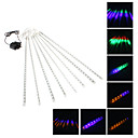 50cm Festival Decoration Colorful LED Meteor Rain Lights for Christmas Party (8-Pack, 110-220V)