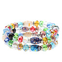 3 Layer Coloured Glaze Crystal Bracelet