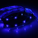 Vandtæt 30cm 12-LED Blue LED Strip Light (12V)