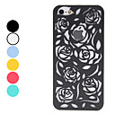 Hul ut stil Rose Pattern Hard Case for iPhone 5 (Assorterte farger)