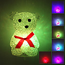 Novelty Bear Style Colorful Light Crystal LED Night Lamp (3xLR44)