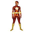 Buy Red Gold Flash Shiny Metallic Super Hero Zentai Suit