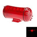 赤ABS 5スーパーブライトは2つのAAA電池を使用して/ 4点滅モード/防水自転車安全LEDライト
