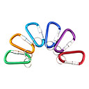 Al Alloy D-Shaped Aluminum Carabiner (Random Color)