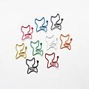 stile gatto carta colorata clip (colore casuale, 10-pack)