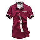 Men's Short Sleeve Shirt , Cotton Casual Pure