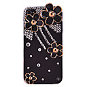 Vintage Zircon Acrylic Flower Pattern Hard Case for iPhone 4/4S