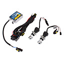 12V 35W H4-3 High / Low BeamHID Xenon Lampe Conversion Kit Set (Thick Ballast)