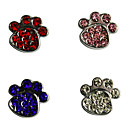 Paw Shape Stylish Decoration Charm for DIY Collar (Assorted Color)