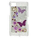 Big Purple Butterfly Pattern Hard Case with Rhinestone for Blackberry Z10