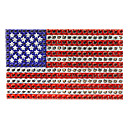 American National Flag Jewelry Protective Body Sticker for Cellphone