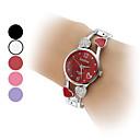 stile cave in lega di orologio da donna al quarzo analogico cuore banda braccialetto (colori assortiti)