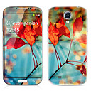 Red Leaves Pattern Front and Back Protector Stickers for Samsung Galaxy S4 I9500
