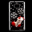 Christmas Socks Pattern Hard Case with Rhinestone for Samsung Galaxy S2 I9100