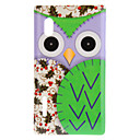 Staring Cartoon Owl with Purple Face and Cherry Wings Pattern Hard Case for LG E610 Optimus L5