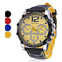 Men's Watch Sports Big Dial PU Band