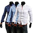 Camisa de punto delgado de moda los HOMBRES de los