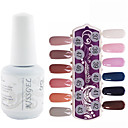 yemannvyou®1pcs uv lentejuelas esmalte de uñas de gel de color no.277-288 remojo-off (15 ml, colores surtidos)
