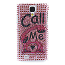 Rhinestone Decorated Telephone Pattern Hard Case for Samsung Galaxy S4 I9500