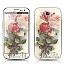 Flower Pattern Front and Back Protector Stickers for Samsung Galaxy S3 I9300