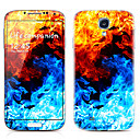 Colorful Design Front and Back Protector Stickers for Samsung Galaxy S4 I9500