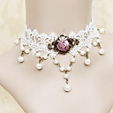 Buy Lolita Jewelry Classic/Traditional Necklace Princess White / Fuschia Accessories Lace Women Alloy