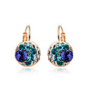 Graceful 18K Gold Plated Alloy With Crystal Earrings
