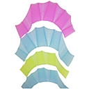 Tamaño Mediano 100% del silicio Piscina Practicar Guantes palmeados (2 Pcs, Ramdon color)
