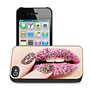 Lips Pattern 3D Effect Case for iPhone4/4S