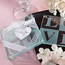 LOVE mønster glass Coasters