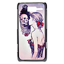 Beauty and Skull Pattern Hard Case for MOTO XT890 (RAZR i)
