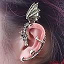 estilo punky de la vendimia del dragón mosca de bronce 1pcs prisionero del oído izquierdo
