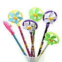 Windmill Smiling Face Plastic Ornament Gel Pen(3PCS Random Color)