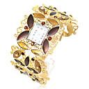 Dames Trend Rhinestone Alloy Style analoge quartz horloge armband