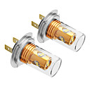 H7 10W 800LM 5500-6500K Cool White Light LED Bulb for Car (12V-24V,2pcs)