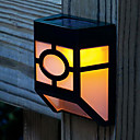 2-LED Solar Powered Wall Mount Lantern Light Deck Lamppu