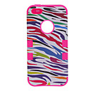 Buy 2-in-1 Design Zebra Stripe Pattern Silicone Case Hard Inside Cover iPhone 5/5S (Assorted Colors)