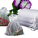 50pcs Organza Drawstring Gift Jewellery Bag Pouch White