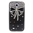 Bling Jewels Bowknot Pattern Hard Back Cover Case with Glue for Samsung Galaxy S4 I9500