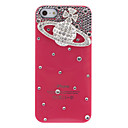 Luxury Design Siliver Saturn Pattern with Diamond Rose Hard Case for iPhone 5/5S