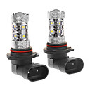 9006 50W 10-LED 6000K fredda lampadina LED bianco per l'automobile (12-24V, 2pcs)