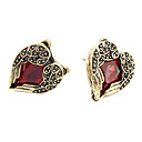 Sweet Style Angel Coppery Zircon Stud Earrings