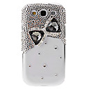 Jewels and Bow Tie Pattern Transparent Hard Back Cover Case with Glue for Samsung Galaxy S3 I9300